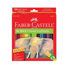 MAX Colored EcoPencils - 33% thicker lead versus regular colored pencils means longer-lasting pencils and smooth rich color laydown. 20% more break-resistant  lead. Easy to sharpen. Triangular shape gives better control. New proprietary formula means less breakage. Leads will not fall out because it is glued with double application the entire length of the barrel. #greatartstartshere