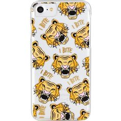 SKINNYDIP Rawr tiger-print iPhone case ($18) ❤ liked on Polyvore featuring accessories, tech accessories, iphone sleeve case, iphone cases, transparent iphone case, print iphone case and slim iphone case