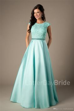 Prepare the dark blue prom dresses for the upcoming prom? Then you need to see coral satin lace long modest prom dresses 2017 cap sleeves a-line beaded elegant beaded girls formal mint evening prom party dresses cheap in totallymodest and other dress for Dark Blue Prom Dresses, Modest Formal Dresses, Prom Dresses 2017, Prom Dresses With Sleeves, Trendy Dresses, Dance Dresses, Aqua Prom Dress, Gold Dress, Pageant Dresses