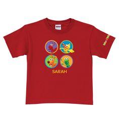WordWorld WordFriend Circles Red T-Shirt