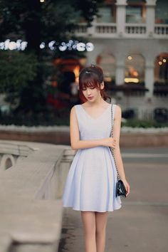 Japanese fashion V-neck halter waist A word  dress - AddOneClothing - 5