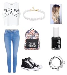 """""""Untitled #29"""" by sajasponys ❤ liked on Polyvore featuring Paige Denim, Miss Selfridge, Converse, BillyTheTree and Essie"""
