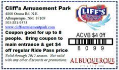 $4 off at Cliff's Amusement Park through September 2012