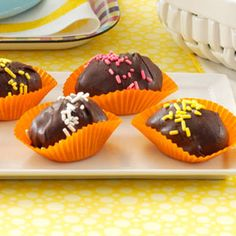 Crunchy Chocolate Eggs Recipe from Taste of Home -- shared by Janis Plourde of Smooth Rock Falls, Ontario