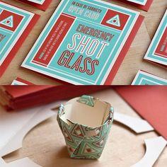 The Emergency Shot Glass Card