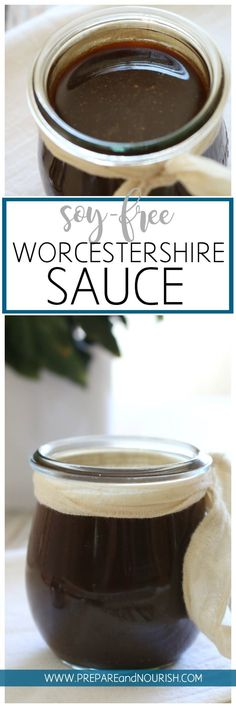 Soy-Free Worcestershire Sauce - Incredibly flavorful condiment is recreated with real food ingredients and paleo friendly. Use this Soy-Free Worcestershire Sauce in your favorite recipes or simply drizzle on top of steak. Healthy Eating Recipes, Gluten Free Recipes, Real Food Recipes, Gf Recipes, Ketogenic Recipes, Whole30, Paleo Sauces, Freundlich, Home Canning