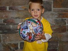 Balloon Ball with Drawstring PouchBaseball Ball 42 by KerrysCrafts, $6.00
