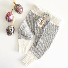Mmm påske! Magnus-malte egg og nystrikka bukser