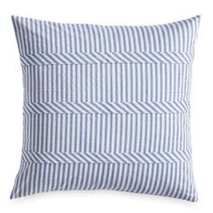 Pioneer Woman Blue Ticking Stripe Euro Size Pillow Standard Sham Set of 2 New #THEPIONEERWOMAN