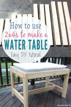 How to Build a DIY Sand and Water Table Looking to make your own DIY sand and water table? This DIY water sensory table is the perfect idea for preschoolers and kindergarteners. Water Table Diy, Sand And Water Table, Diy Table, Kids Sand Table, Kids Outdoor Play, Backyard For Kids, Outdoor Fun, Diy Outdoor Toys, Backyard Games