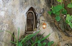 fairy door in a tree trunk