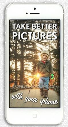 How To Take Better Pictures With Your iPhone. Hopefully these tips apply to iPods as well.