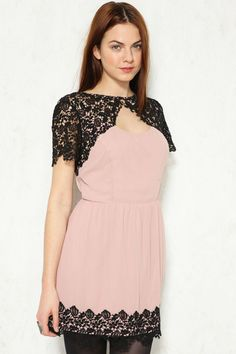Urban outfitters Pins & Needles Lace Caplet Dress