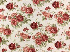 Maison de campagne Roses 1 - Tissus de décoration Fleurs - achetez à des prix très intéressants dans la boutique en ligne - tissus-hemmers.fr.