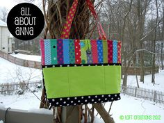 LOVE this version of the Anna Bag!  I have a collection of polka dots in my fabric stash.  Now I just need the pattern.  Yup.  I WILL be making this one!