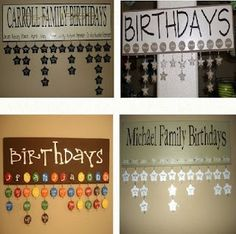 a birthday board! what a great idea, never going to miss another birthday!