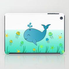 #whale, #baby, #happy #ipad case