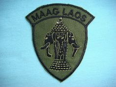 VIETNAM WAR SUBDUED PATCH, US MAAG ADVISER TO LAOS ARMY