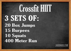 Crossfit HIIT With Box Jumps
