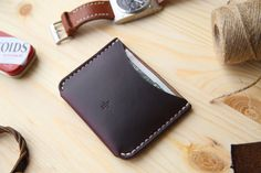Leather Card Holder Wallet Mens Leather Wallet by Manufacturabrand