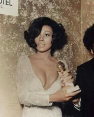 Diahann Carroll with Golden Globe