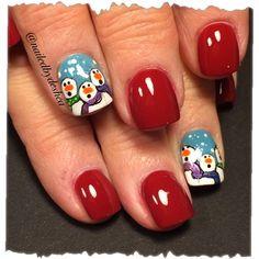 Snowmen by nailedbydeshea - Nail Art Gallery nailartgallery.nailsmag.com by Nails Magazine www.nailsmag.com #nailart