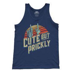 Cactus Shirt, Funny Tank Tops, Introvert, Order Prints, Tank Man, Unisex, Cute, Mens Tops, T Shirt