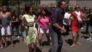 DENVER — A flash mob took over the 16th street mall in Denver Saturday, and I am in it!  Look Quick!