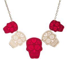 Multi Sugar Skull necklace  laser cut by sugarandvicedesigns, £18.00