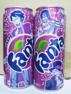 Des canettes de Fanta version One Piece ! Avec que des beaux mecs ! #Law #Ace #Sabo