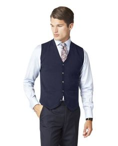 TM Lewin V-Neck navy Merino waistcoat. Bought on 2016-07-16 for €59