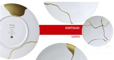 To celebrate its 150th anniversary, famed French porcelain maker Bernardaud reached out to various artists around the world to create their vision of the company. Paris artist Sarkis created the KINTSUGI design