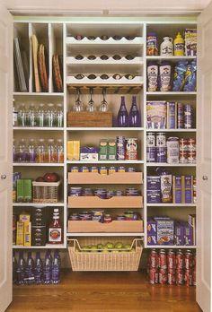 Walk-in pantry storage ideas