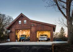 Pole Barn Garage, Garage Loft, Pole Barn House Plans, Pole Barn Homes, Barn Plans, Pole Barn Kits, Timber Garage, Two Car Garage, Detached Garage Designs