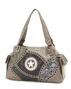 Amazon.com: Western Purse Rhinestone Patchwork Animal Print Handbags Grey Bone: Clothing
