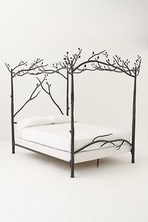 Forest canopy bed - Falling asleep has never felt so tranquil. We went directly to our iron workers to have these hand crafted iron Forest Canopy Bed made Dream Bedroom, Home Bedroom, Bedroom Furniture, Home Furniture, Bedroom Decor, Master Bedroom, Garden Bedroom, Bedroom Ideas, Cheap Furniture