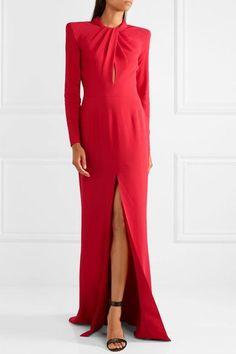 Scarlet crepe Hook and zip fastening at back 50% silk, 50% polyamide Dry clean Designer color: Lollipop