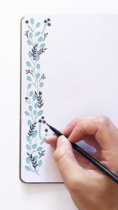 Your Bullet Journal this essential - 25 layout ideas Hd. Your Bullet Journal this essential - Bullet Journal Inspo, Bullet Journal 2019, Bullet Journal Notebook, Bullet Journal Aesthetic, Bullet Journal Themes, Borders Bullet Journal, Bullet Journal Design Ideas, Floral Border, Flower Doodles