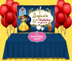 This item is unavailable Beauty And Beast Birthday, Beauty And The Beast Party, Birthday Favors, Party Favors, Birthday Parties, Paper Party Bags, Custom Backdrops, Party Pops, Birthday Backdrop