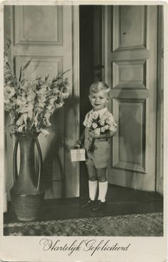 Hartelijk Gefeliciteerd - Congratulations - Vintage Dutch greetingcard