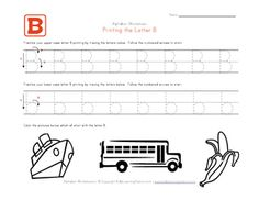 Traceable Alphabet Letter B Worksheet