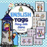 English Task Board Tags - Fairy Tale Theme