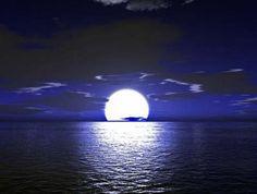 Image result for fotos de lunas llenas en el mar