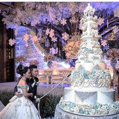 Image may contain: 2 people, people standing, wedding and outdoor Wedding Goals, Wedding Events, Dream Wedding, Christmas Themed Cake, Lebanese Wedding, Cake Blog, Groom Attire, Themed Cakes, Cake Designs