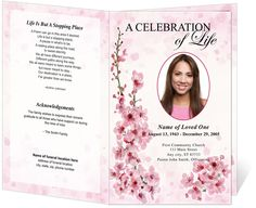 Choose Your Fascinated Memorial And Funeral Bookmarks From Leading - Celebration of life template