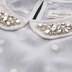 Womens Camille Embellished Collar Shirt | Womens Sparkle & Shine | Abercrombie.com