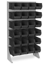 Single Sided Floor Rack Bin Organizer - 15 x 8 x Bins Shipping Supplies, Shipping Boxes, Lucky Streak, Backgrounds, Organization, Flooring, Shipping Crates, Getting Organized, Organisation