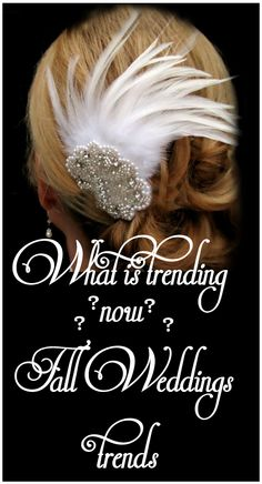 What is Trending now for your Fall Wedding? Find out here http://bellatayejewelrycollection.com/blog?ncat=60&news_id=21