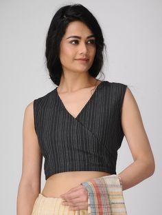 b538da23d81cda Buy Black Handloom Cotton Blouse Women Blouses Closet Complements Chic in  hues you ll love