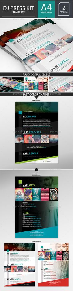 Dj / Musician Press Kit / Resume PSD Template  #design #dj #electro • Available here → http://graphicriver.net/item/dj-musician-press-kit-resume-psd-template-/14060110?s_rank=156&ref=pxcr
